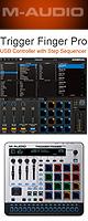 M-Audio(エム・オーディオ) / Trigger Finger Pro - パフォーマンス・パッドコントローラ  - ■限定セット内容■→ 【・ヘッドホン(OV-X8) ・Keystation Mini 32 II】