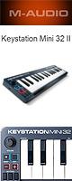 M-Audio(エム・オーディオ) / Keystation Mini 32 II 【Ableton Live Lite付属】- ベロシティ対応32鍵盤ミニ・キーボードコントローラ -