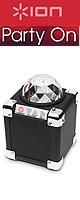 Ion(アイオン) / Party On ミラーボール搭載 Bluetooth対応ワイヤレススピーカー『セール』 ■限定セット内容■→ 【・金メッキ高級接続ケーブル (RCA-Phoneミニ) 3M 1ペア 】