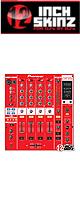 12inch SKINZ / Pioneer DJM-800 SKINZ (RED) 【DJM-800用スキン】