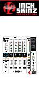 12inch SKINZ / Pioneer DJM-800 SKINZ (WHITE/BLACK) - 【DJM-800用スキン】