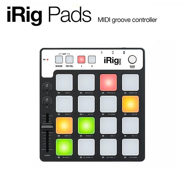 IK Multimedia(アイケーマルチメディア) / iRig Pads - MIDIパッドコントローラー -