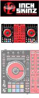 ■ご予約受付■ 12inch SKINZ / Pioneer DDJ-SX2 SKINZ(BLACK/RED) 【DDJ-SX2用スキン】
