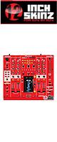12inch SKINZ / Pioneer DJM-2000NXS SKINZ (RED) - 【DJM-2000NXS用スキン】