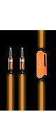 POWER4 / Visible EL Flowing LIght Stereo Audio Cable (AL001:ORANGE)  - 光るオーディオケーブル -
