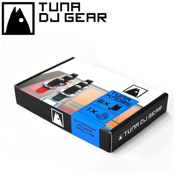 Tuna DJ Gear / 6 Tuna Knobs (6個) + トラベルケース付き - タブレット用ノブ - 【iPadへ装着してノブでの操作が可能に!!】