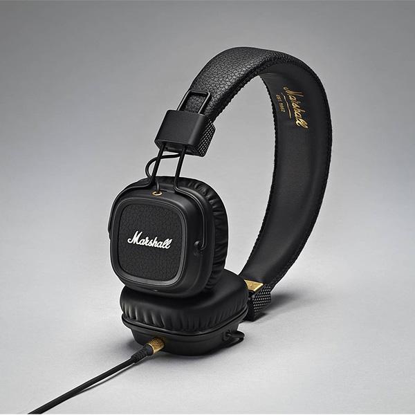 Marshall(マーシャル) / MAJOR II (BLACK) - 1ボタン マイク & リモコン付き 密閉ダイナミック型ヘッドホン - 1大特典セット