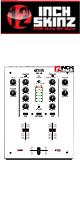 12inch SKINZ / DJ-Tech DIF-1S SKINZ (White) 【DIF-1S用スキン】