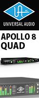Universal Audio(ユニバーサルオーディオ) / APOLLO 8 QUAD - Thunderbolt接続オーディオ・インターフェース - 【期間&数量限定価格 9月15日(土)迄】 1大特典セット