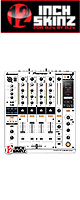 ■ご予約受付■ 12inch SKINZ / Pioneer DJM-900NXS SKINZ (WHITE/BLACK) - 【DJM-900NXS用スキン】