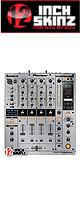 ■ご予約受付■ 12inch SKINZ / Pioneer DJM-900NXS SKINZ Metallics (Brushed Silver) - 【DJM-900NXS用スキン】