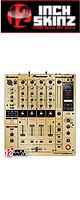 ■ご予約受付■ 12inch SKINZ / Pioneer DJM-900NXS SKINZ Metallics (Brushed Gold) - 【DJM-900NXS用スキン】