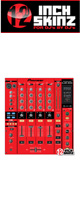 12inch SKINZ / Pioneer DJM-800 SKINZ (Red/Black) - 【DJM-800用スキン】