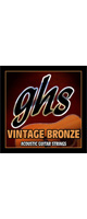 ghs(ガス) / Vintage Bronze 85/15 Copper Zinc VN-XL -アコギ弦- Extra Light 【.011-50】