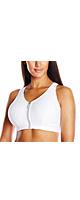 Glamorise(グラマライズ) / High Impact Zipper Sport Bra (White / サイズ:34 D) - スポーツブラ - 「※クレジットカード払いのみ可」