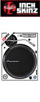 12inch SKINZ / Pioneer PLX-1000 SKINZ (PAIR / 2枚) (WHITE/BLACK) 【PLX-1000用スキン】