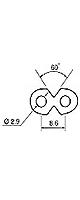 ラジカセ等 電源コード 2m AC-LL-2 - 電源ケーブル -