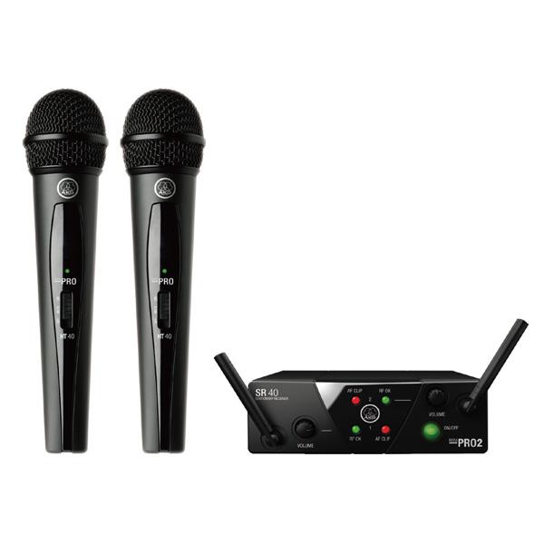 AKG(アーカーゲー) / WMS40 PRO MINI2 VOCAL SET DUAL ワイヤレスマイク 【受信機とハンドヘルド型送信機のセット】【12月中旬頃予定】