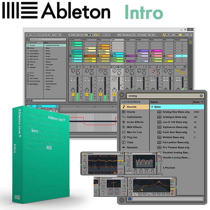 Ableton(エイブルトン) / Live9 Intro 【BOXバージョン】