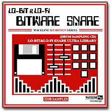 WAVELINEサンプリングCD / BITWARE SNARE/LO-BIT&LO-FI SNARE ULTRA LIBRARY [CD-R]