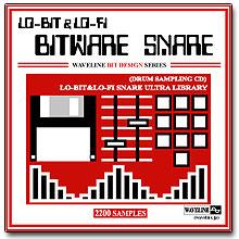 WAVELINEサンプリングCD / BITWARE SNARE/LO-BIT&LO-FI SNARE ULTRA LIBRARY [CD-R]