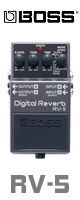 Boss(ボス) /  Digital Reverb RV-5 - デジタル・リバーブ 《ギターエフェクター》 ■限定セット内容■→ 【・パッチケーブル(KLL15) 】