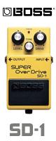 Boss(ボス) / SUPER OverDrive SD-1 - オーバードライブ 《ギターエフェクター》 2大特典セット