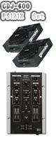CDJ-600 / PS121X プレゼント品 → 【・金メッキ高級接続ケーブル3メートル ・教則DVD ・送料無料 ・DJ用高性能カールコードヘッドホン】
