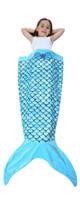 Camlinbo / Mermaid Blanket(ブルー) - 人魚の寝袋ブランケット -