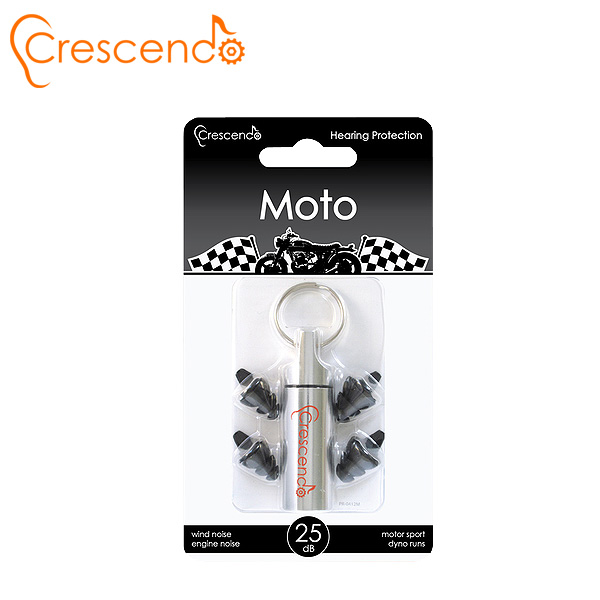 Crescendo(クレシェンド) / Moto モータースポーツ用イヤープラグ 【イヤープロテクター(高性能耳栓)/遮音レベル:約25dB】