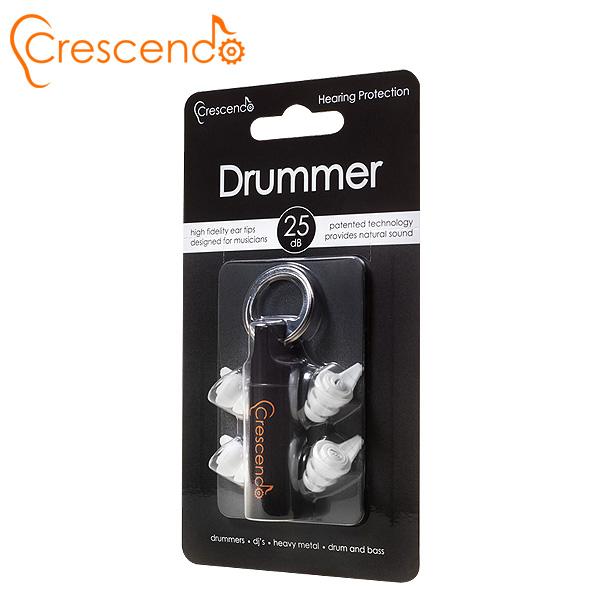 Crescendo(クレシェンド) / Drummer (ドラム用)  【イヤープロテクター(高性能耳栓)/遮音レベル:約25dB】