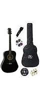 【6点セット】SX アコースティックギターセット DG-150K (BK)