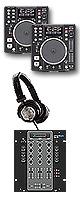 "DN-S1200 / SMX.311 オススメBセット  ■限定セット内容■→ 【・教則DVD ・セッティングマニュアル ・金メッキ高級接続ケーブル 3M 1ペア ・OAタップ ・ミックスCD作成KIT ・DN-HP500 ・USBメモリ2個 ・DJ必需CD 計""5枚""】"