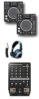"""DN-S1200 / VMX300USB オススメBセット ■限定セット内容■→ 【・ミックスCD作成KIT ・OAタップ ・金メッキ高級接続ケーブル 3M 1ペア ・セッティングマニュアル ・教則DVD ・USBメモリ2個 ・DJ用カールコードヘッドホン ・DJ必需CD 計""""5枚""""】"""