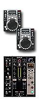 """CDX-05 MBK / DN-X600 set ■限定セット内容■→ 【・教則DVD ・エレクトロハウス音ネタ ・セッティングマニュアル ・金メッキ高級接続ケーブル 3M 1ペア ・OAタップ ・ミックスCD作成KIT ・DJ必需CD 計""""5枚""""】"""