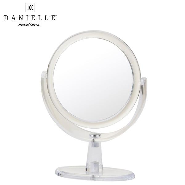 Danielle(ダニエル) / 0592 《拡大鏡》 [鏡面 直径15cm] 【10倍率/等倍率】 -卓上型テーブルミラー-