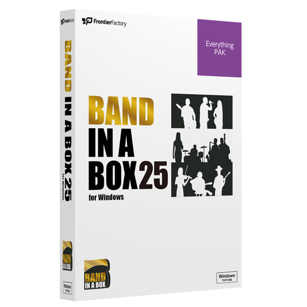 E-frontier(イーフロンティア) / Band-in-a-Box 25 for Windows EverythingPAK  -自動作曲/伴奏作成アプリ  -
