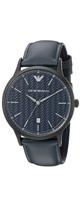 Emporio Armani(エンポリオアルマーニ) / Dress Black Leather Watch AR2479 - メンズ腕時計 -