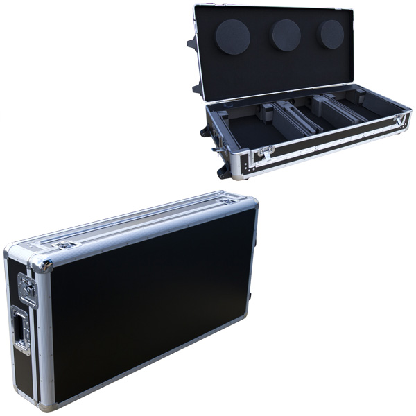 Euro Style(ユーロスタイル) / DJ coffin Case  flight case (フライトケース ) Black 【対応機種:Pioneer XDJ-1000 / CDJ-2000NXS / NXS2 / CDJ-900 / CDJ-850 / CDJ-800 / DENON SC3900 / DN-S3700 2台 & DJM-S9 / DJM-900NXS / NXS2 / DJM-850 / DJM-800 / DJM-750 / DJM-700 /  DJM-400 / Native Instruments Traktor Kontrol Z2 / Rane TTM 57SL / Sixty-One / Sixty-Two / Sixty-Four / Sixty-Eight / Vestax / 05pro3 / 05pro4 1台】 - DJセットケース -