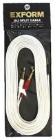 Exform(エクスフォルム) / iDJ SPLIT CABLE (長さ:5m) 【3.5mmステレオミニプラグ - 6.3mm標準プラグ×2】 分岐・変換ケーブル