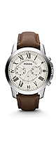 FOSSIL(フォッシル) / FS4735 / Grant Chronograph Leather Watch - Brown (Men's/FS4735) - 腕時計 -