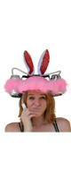 Fairly Odd Novelties / Beer Soda Guzzler Helmet Drinking Bunny Rabbit Ears Party Hat (Pink) - ビールハット・ドリンキングハット -