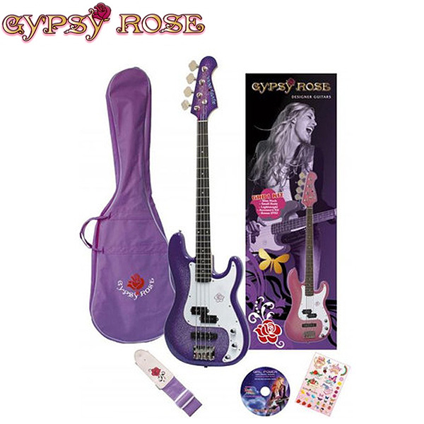 GYPSYROSE(ジプシーローズ) / ベースギターセット -シャンパンパープル- 【GRB1K/CPP】