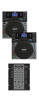"""Gemini(ジェミナイ) & Stanton(スタントン) CDJセット / CDJ-210 & SMX.311 ■限定セット内容■→ 【・教則DVD ・エレクトロハウス音ネタ ・セッティングマニュアル ・金メッキ高級接続ケーブル 3M 1ペア ・OAタップ ・ミックスCD作成KIT ・DJ必需CD 計""""5枚""""】"""