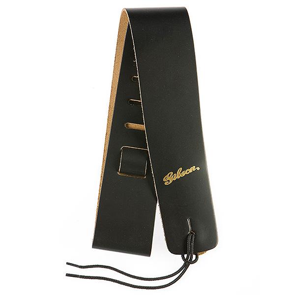"Gibson(ギブソン) / Soft Leather 2 1/2"" Strap - Black ASGG-L010 - ギター ストラップ -"