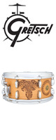 Gretsch(グレッチ) / C-65146S-WB1 AFRICA 【Mathieu Jean(マシュー・ジーン)デザイン】 - ウッド・バーンド・スネアドラム - ■限定セット内容■→ 【・クリーニングクロス 】