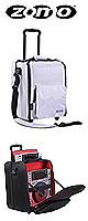Zomo(ゾモ) / CD Trolley Premium Bag (White/Grey) 【CDJ-800,CDJ-900,CDJ-850,CDJ-1000,CDJ-2000収納可】 - ローラー付 トロリータイプ CDJケース -