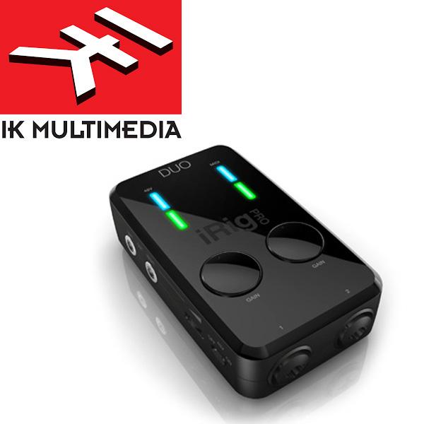 IK Multimedia(アイケーマルチメディア) / iRig Pro DUO - モバイルインターフェイス 2チャンネル同時録音可能 -