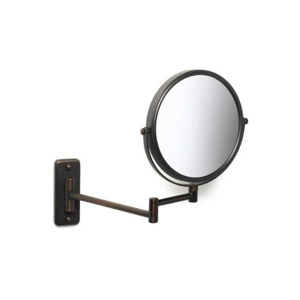 Jerdon(ジェルドン) / JP7506BZ (ブロンズ) 《拡大鏡》 [鏡面 直径20cm] 【5倍率/等倍率】 壁面取付型ミラー