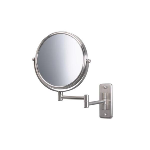 Jerdon(ジェルドン) / JP7506N (ニッケル) 《拡大鏡》 [鏡面 直径20cm] 【5倍率/等倍率】 壁面取付型ミラー